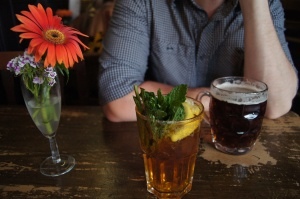 Flower, Pimms and Beer